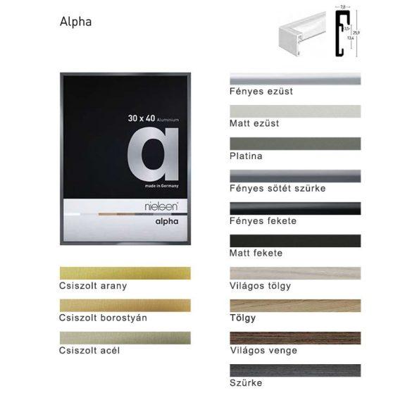 Alpha világos tölgy képkeret 70 x 90 cm