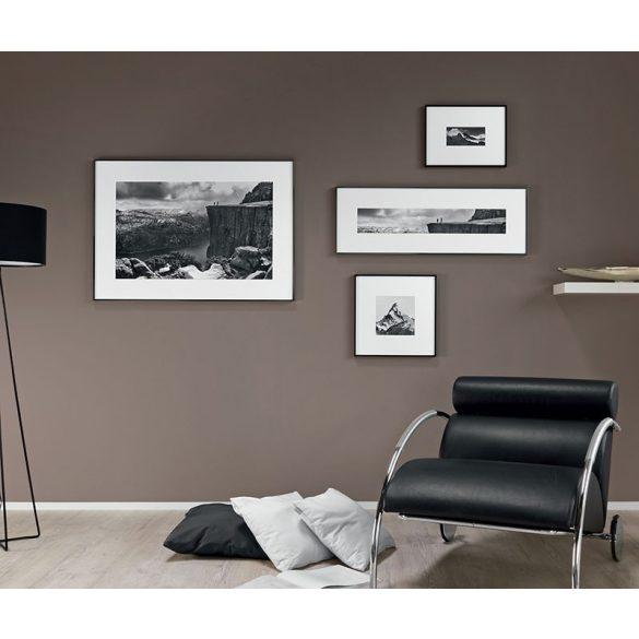 Alpha fényes fekete képkeret 50 x 65 cm