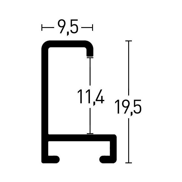 269223 Csiszolt fémszürke