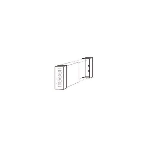 Standard sínzáró fedél - fehér (darabos kiszerelés)