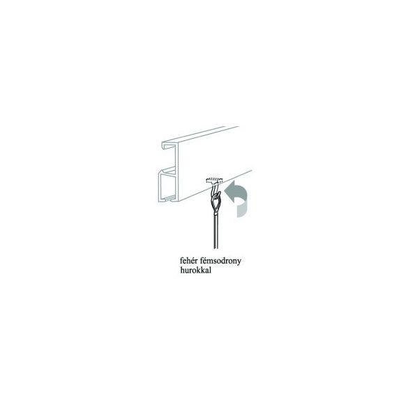 No. 16 Fehér fémsodrony hurokkal + műanyag horog egységcsomag