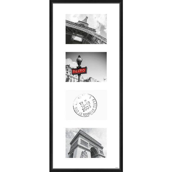 Gallery Junior 30x74 matt fekete 4x13x18 ablakos