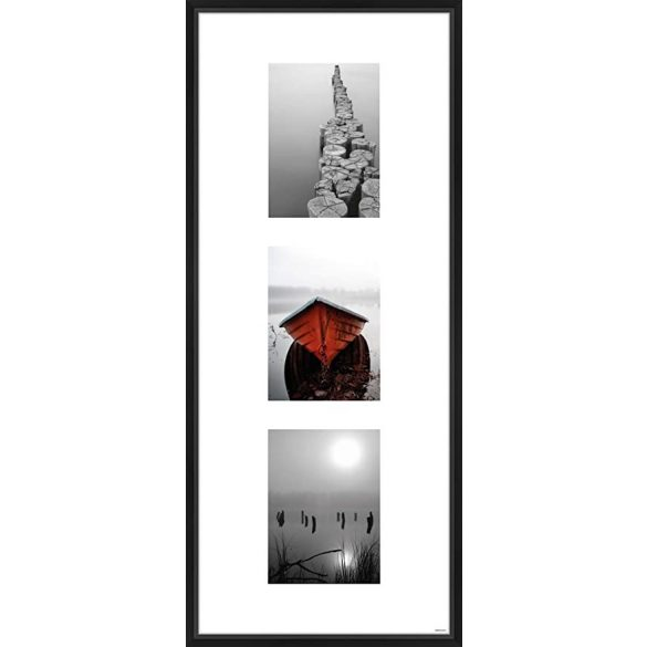 Gallery Junior 30x74 matt fekete 3x13x18 ablakos