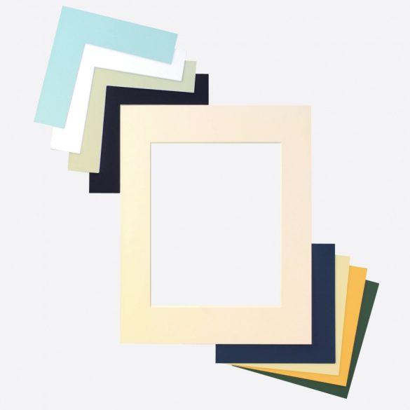 Paszpartu karton külméret 40x50 ablak 28x35 – Szürke