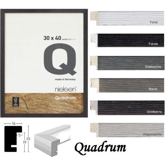 Quadrum fa képkeret 40*50 sötétszürke